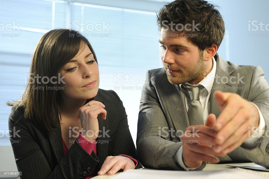 Interacting Business Colleagues royalty-free stock photo