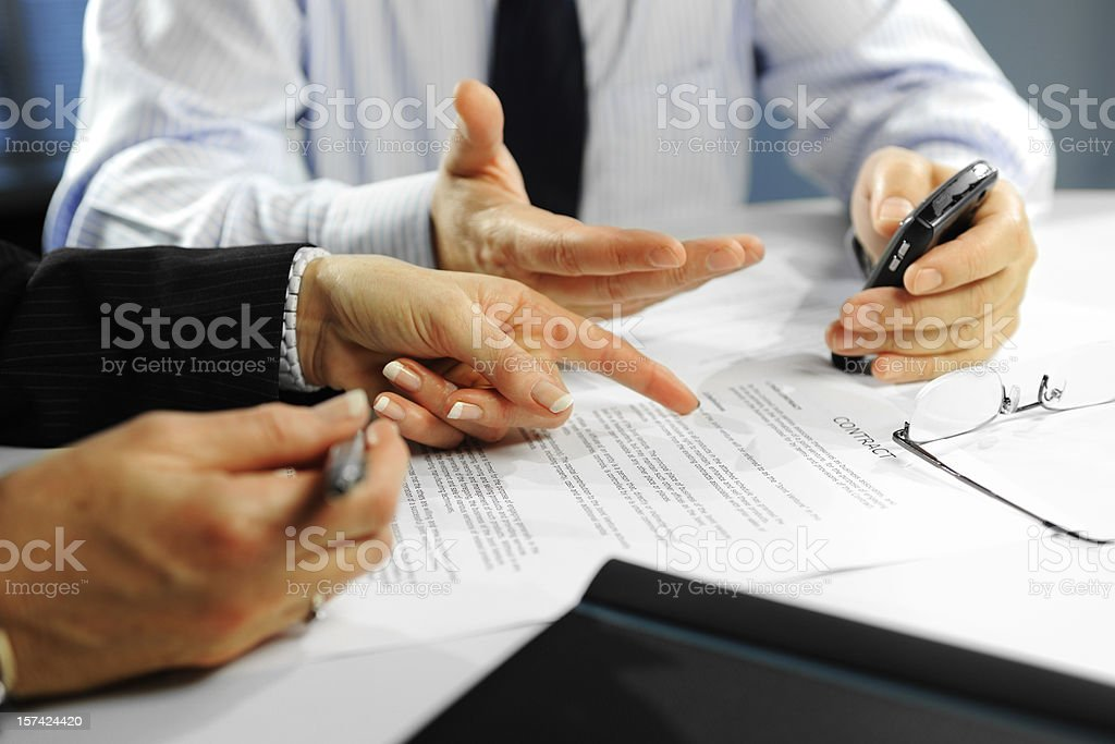 Interacting Business Hands royalty-free stock photo