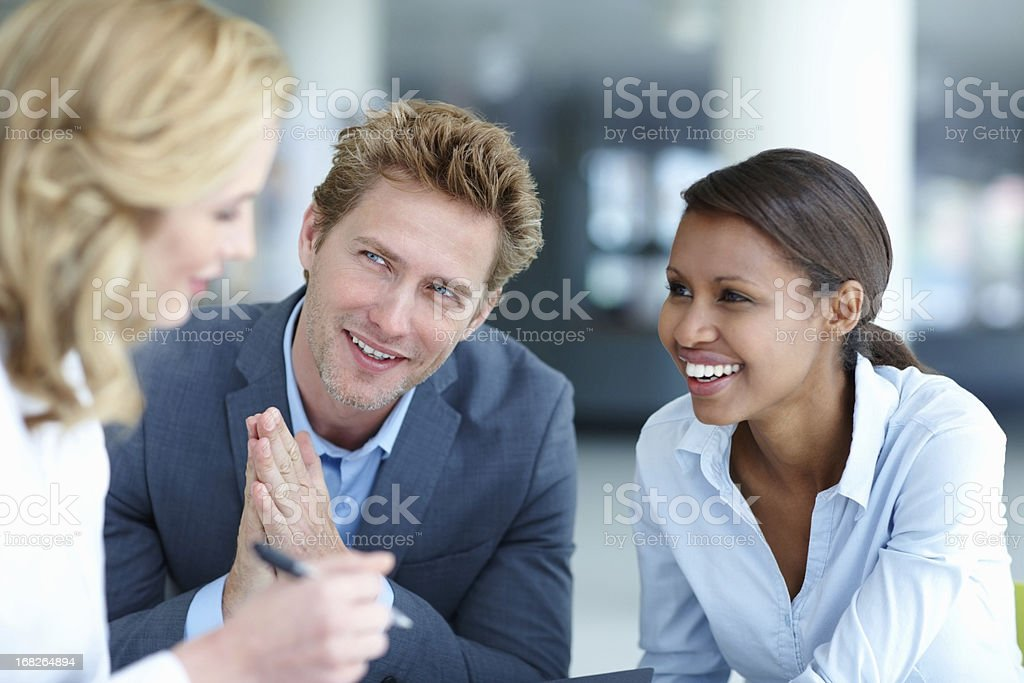 Interaction between business people royalty-free stock photo