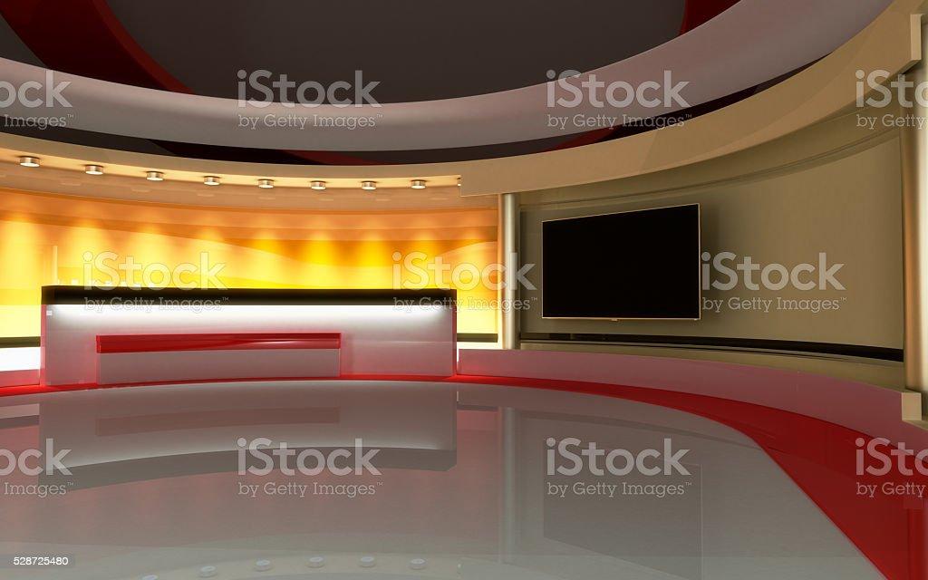Interactive studio background.Tv Studio. News studio. The perfect...
