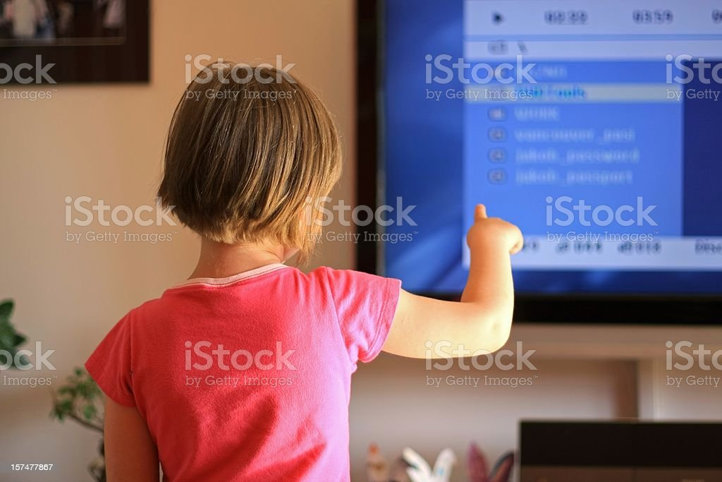 Interactive TV for children royalty-free stock photo