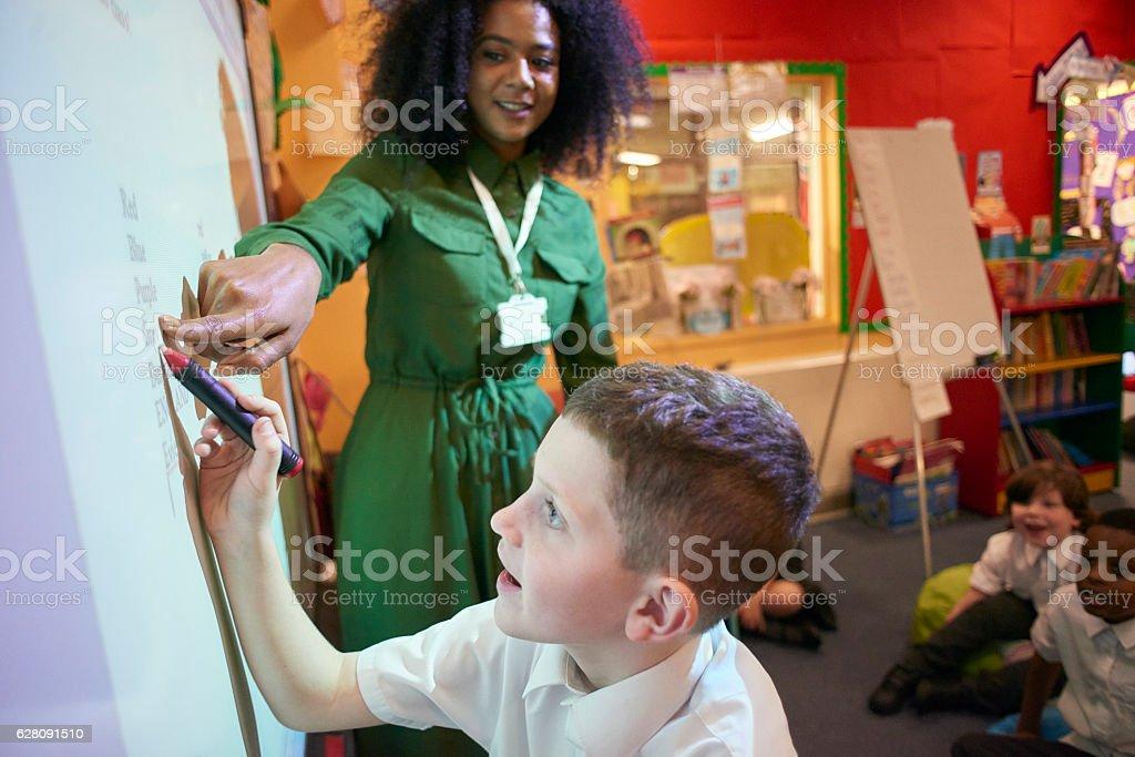 interactive white board stock photo