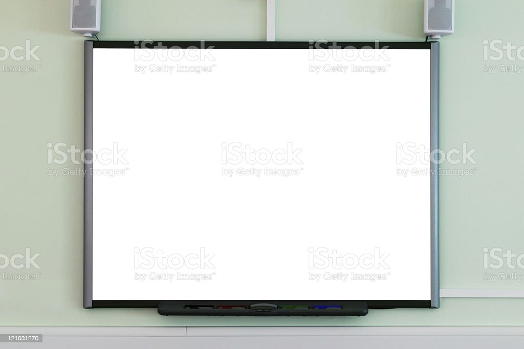 interactive whiteboard stock photo - Electronic Whiteboard