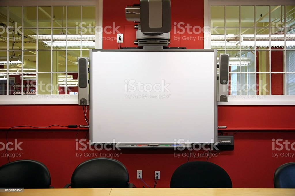 Interactive Whiteboard royalty-free stock photo