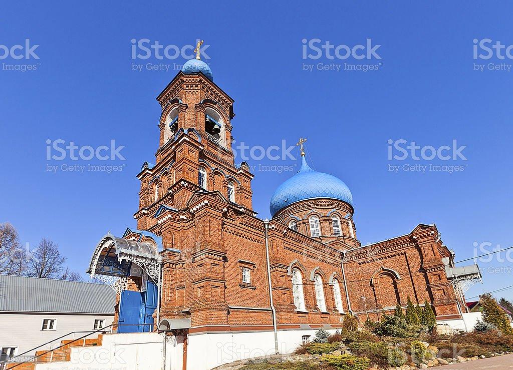 Intercession of Theotokos church (1902). Igumnovo, Russia royalty-free stock photo