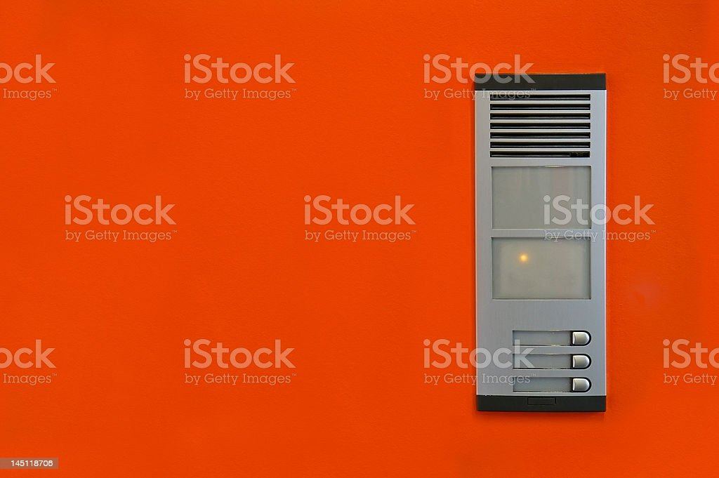 Intercom in office royalty-free stock photo