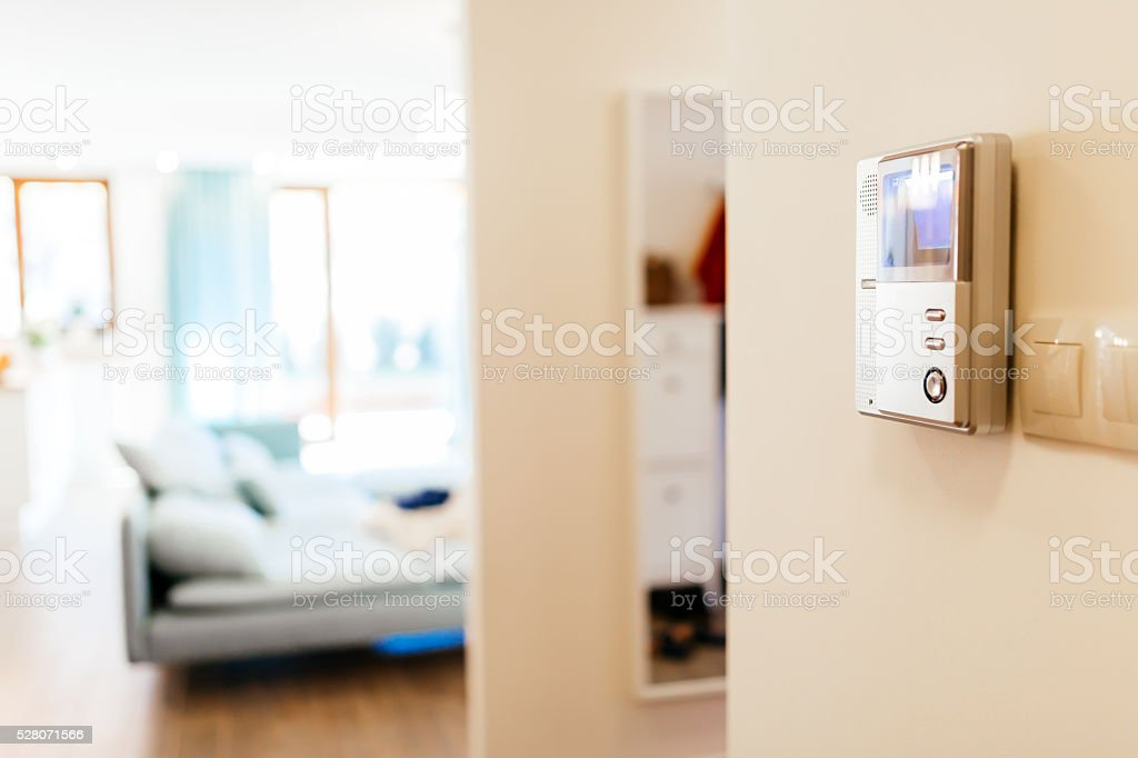 Intercom is a safety device stock photo