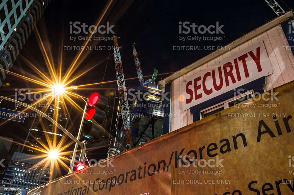 Intercontinental and Korean Air in downtown Los Angeles stock photo