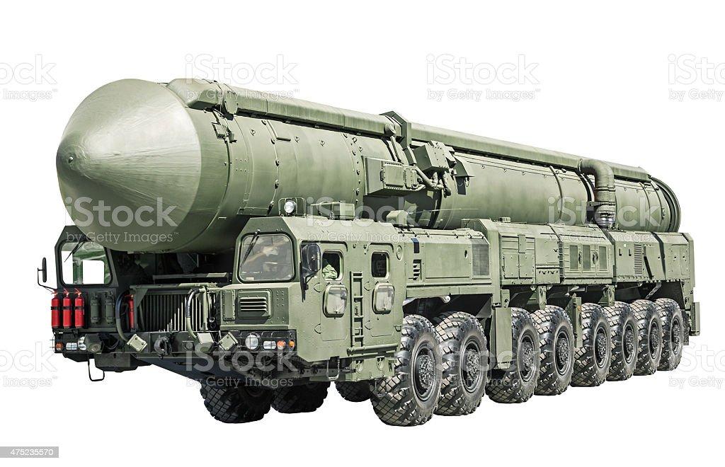 intercontinental ballistic missile mobile stock photo