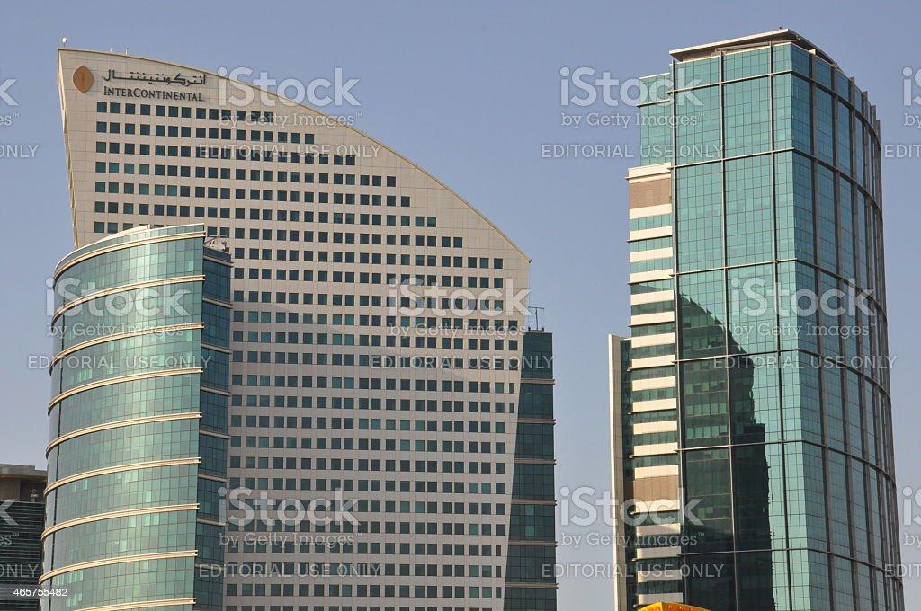InterContinental Dubai Festival City in Dubai, UAE stock photo
