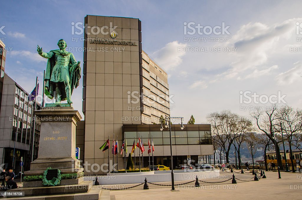 Intercontinental Hotel in Budapest stock photo