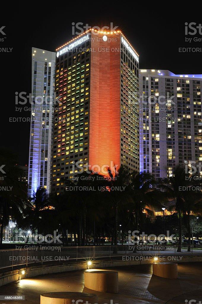 InterContinental Hotel in Miami stock photo