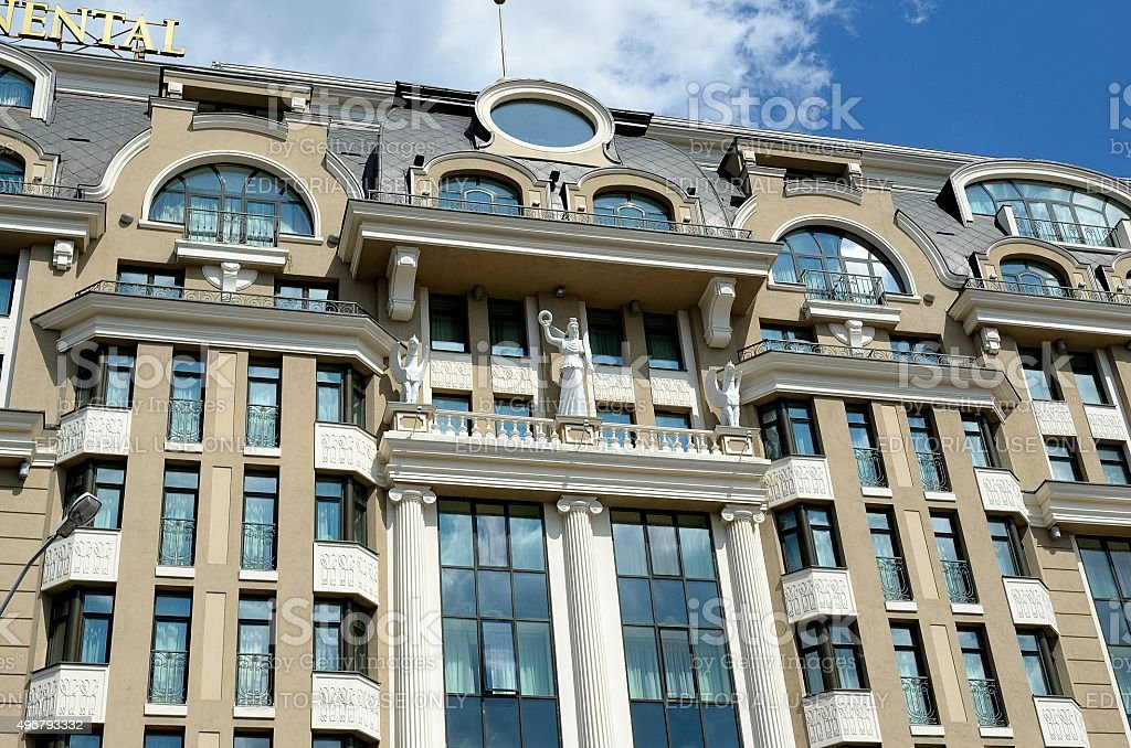 InterContinental Hotel, Kiev stock photo