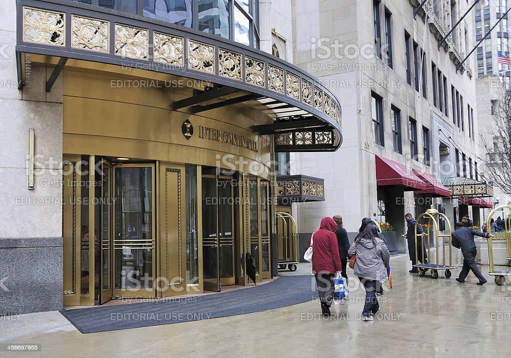 Intercontinental Hotel on Michigan Avenue stock photo