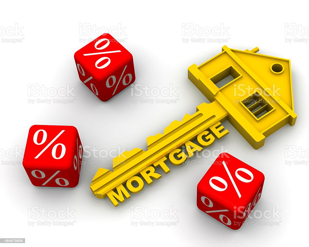 Interest on the mortgage stock photo