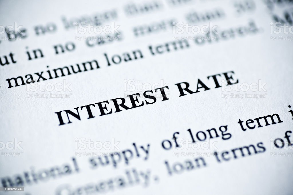 Interest rate royalty-free stock photo