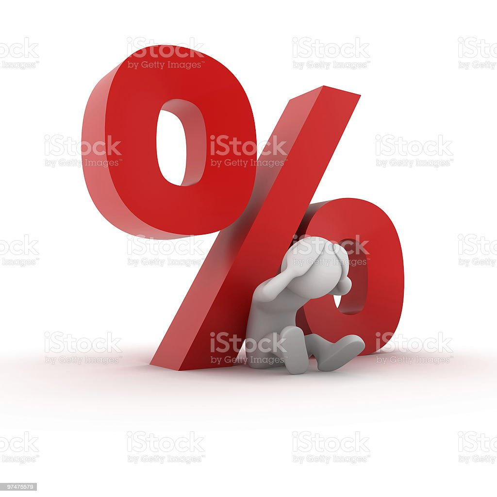Interest Rate Pressure royalty-free stock photo