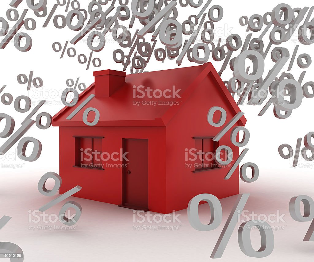 Interest rates on house stock photo
