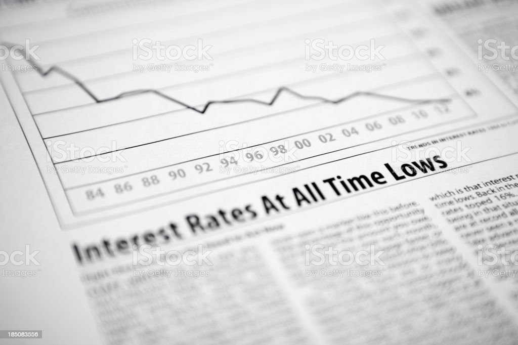Interest Rates royalty-free stock photo