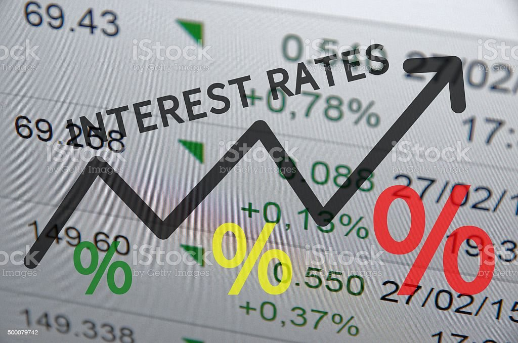 Interest rates stock photo