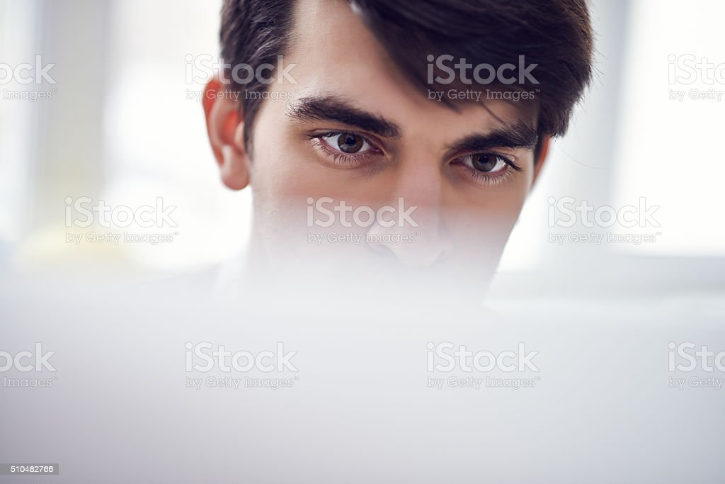Interested look stock photo