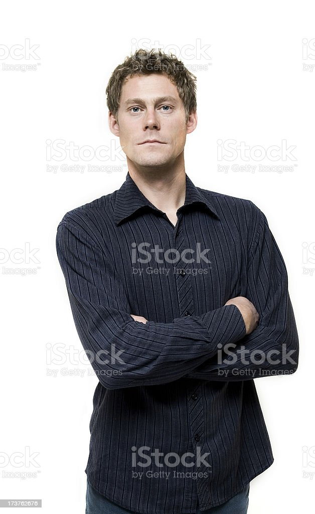 Interested Man stock photo
