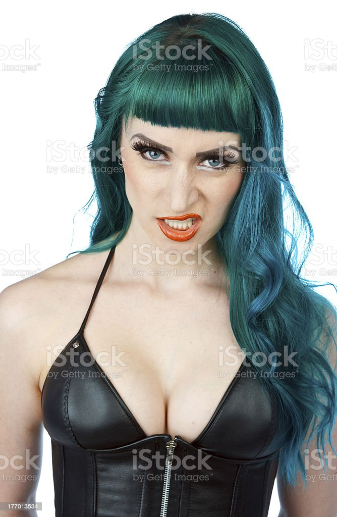 interesting looking woman portrait royalty-free stock photo