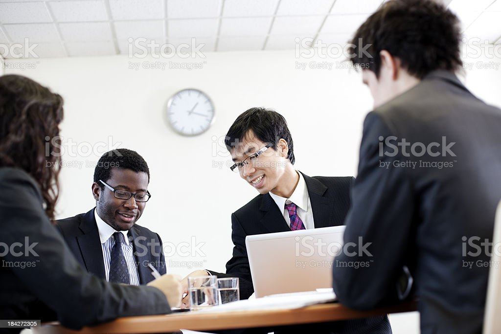 Interesting office meeting royalty-free stock photo