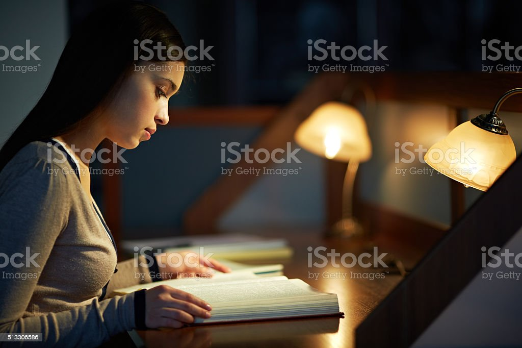 Interesting reading stock photo