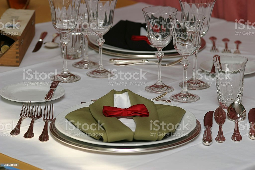 Interesting table setting royalty-free stock photo