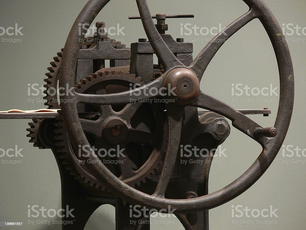 Interesting things - 19th century printing machine royalty-free stock photo