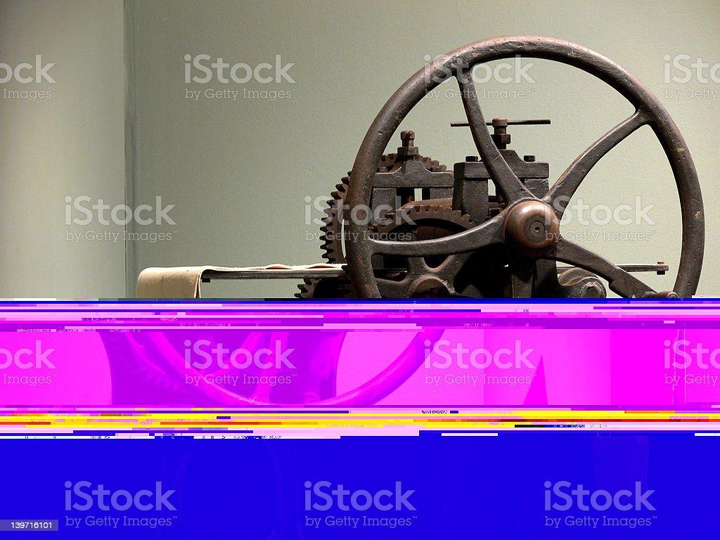 Interesting things - 19th century printing machine stock photo