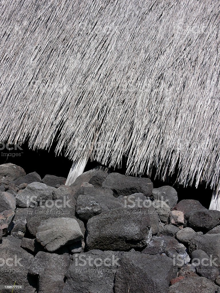 Interesting things - Hawaii -Tiki Hut royalty-free stock photo