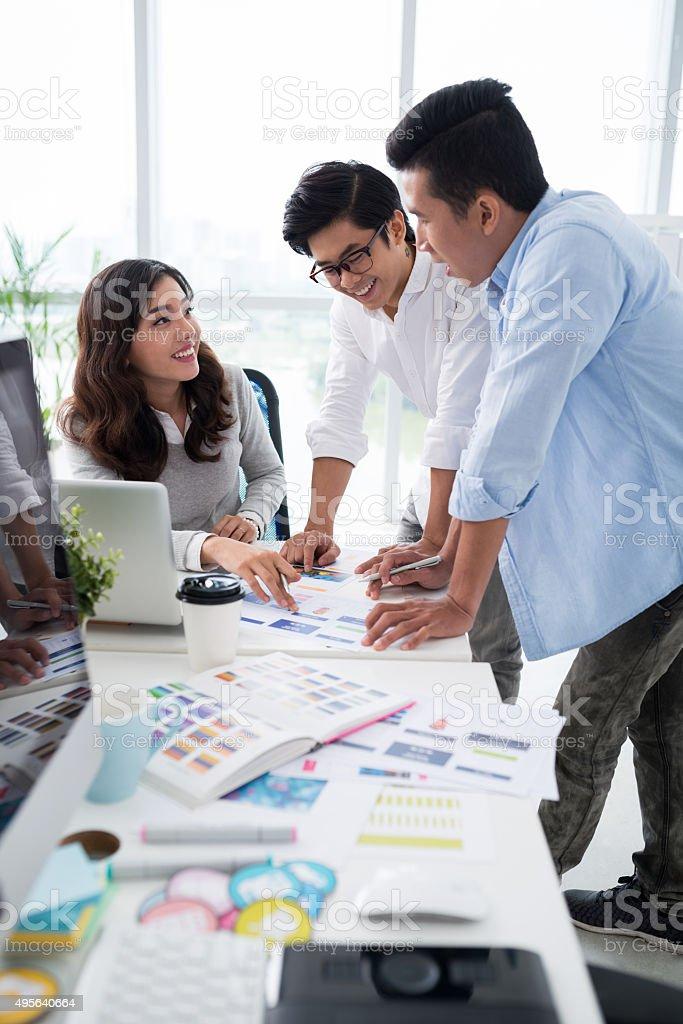 Interface designers stock photo