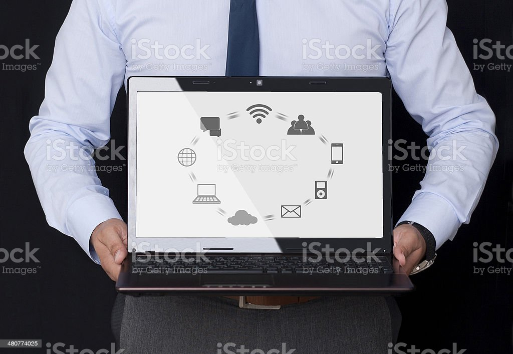 Interface Icons on the Display stock photo
