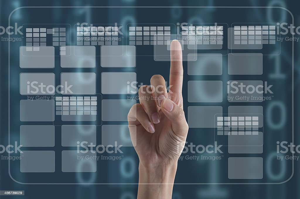 Interface Touch stock photo