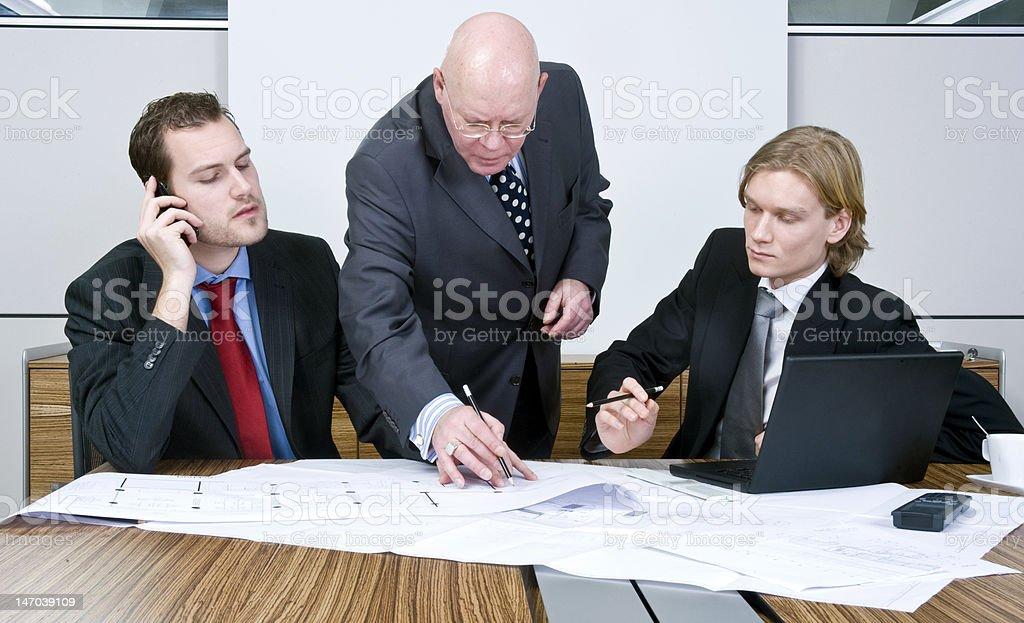 Interfering boss royalty-free stock photo
