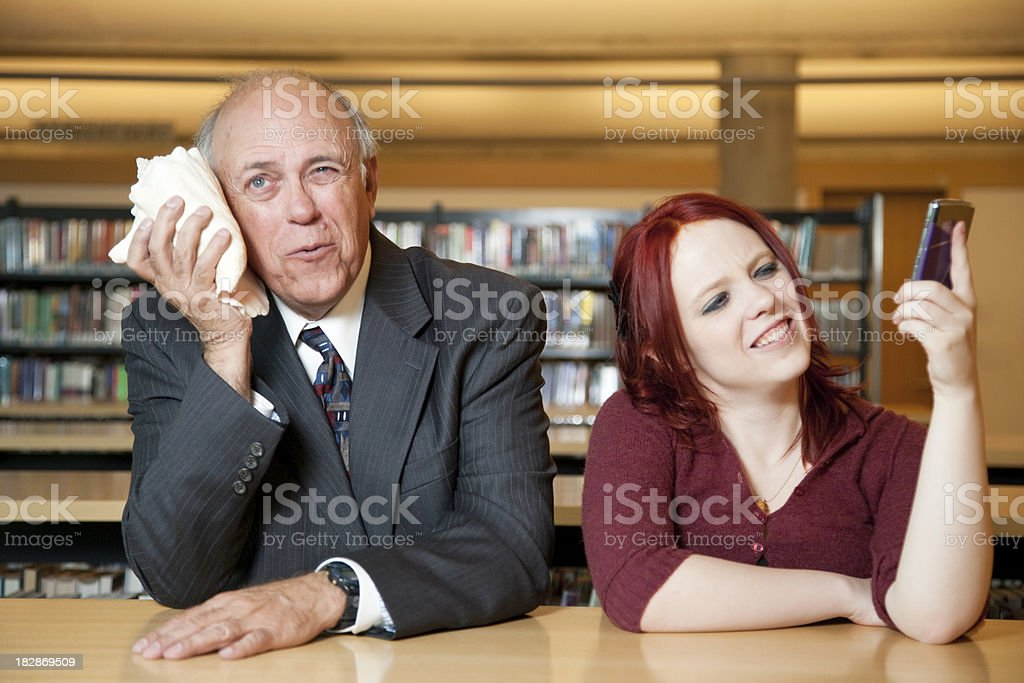 Intergenerational Communication Issues royalty-free stock photo