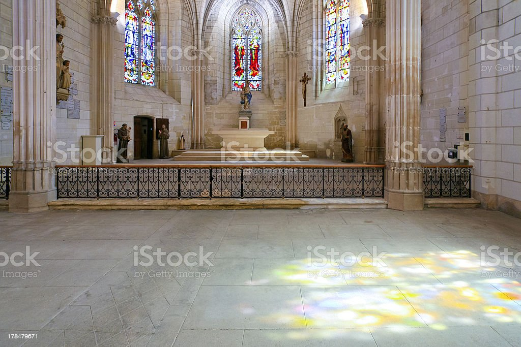 interion catholical church stock photo