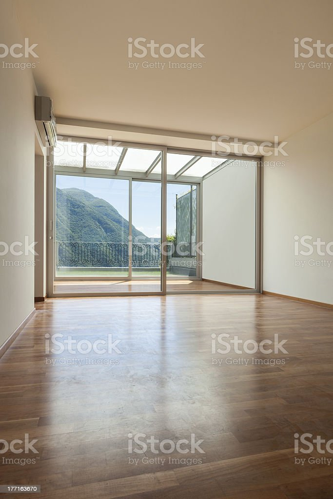 Interior apartment with garden royalty-free stock photo