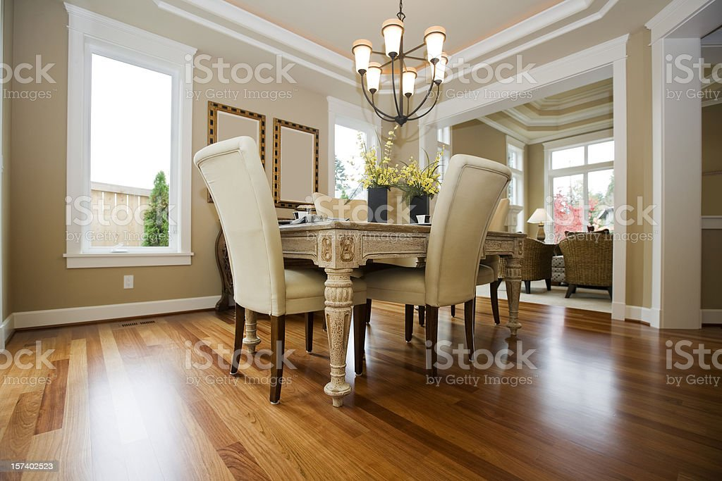 Interior architecture design Custom New Luxury Dining Room stock photo