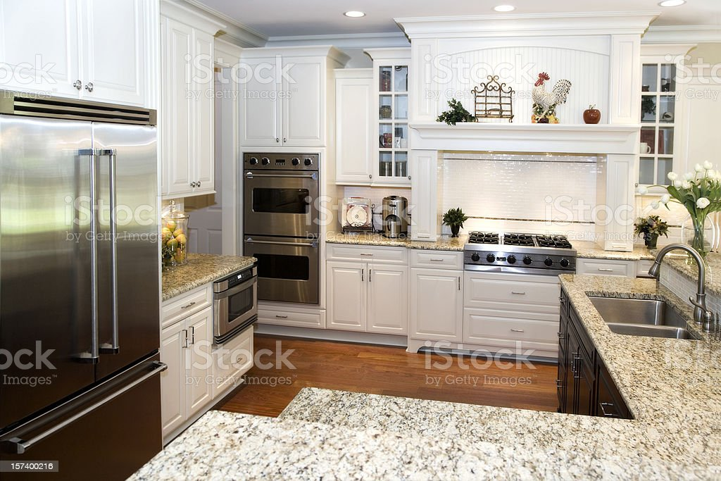 Interior architecture design Newly renovated custom kitchen modern stock photo