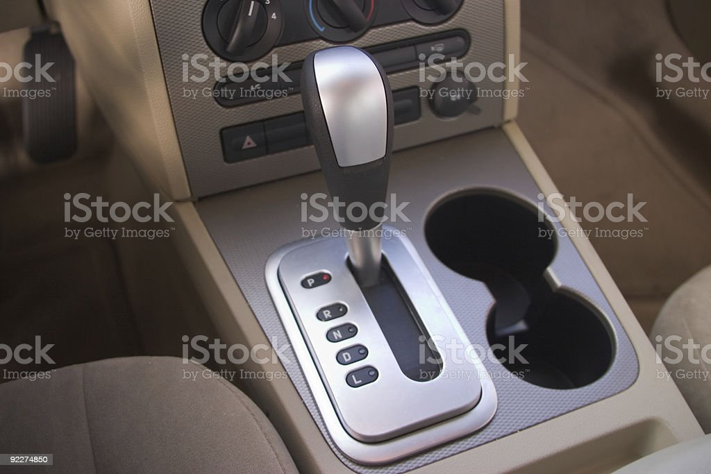 Interior Auto Console stock photo