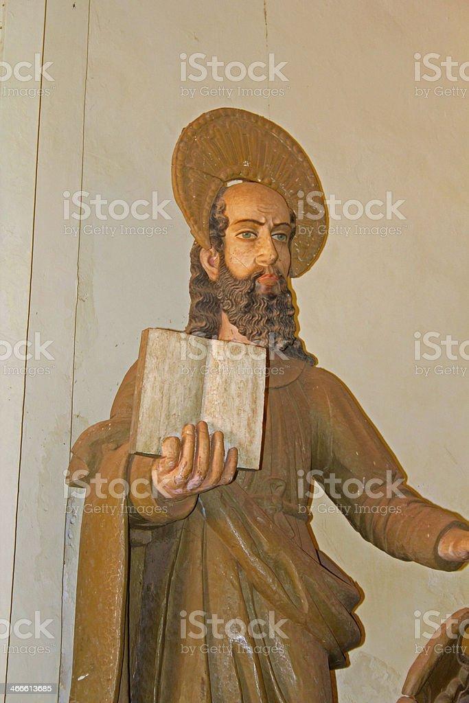Interior Basilica Bom Jesus (b.1605) holds Tomb of St. Fra royalty-free stock photo