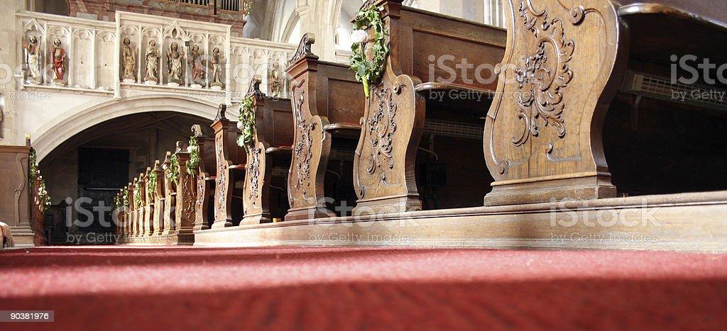 Interior basilica royalty-free stock photo
