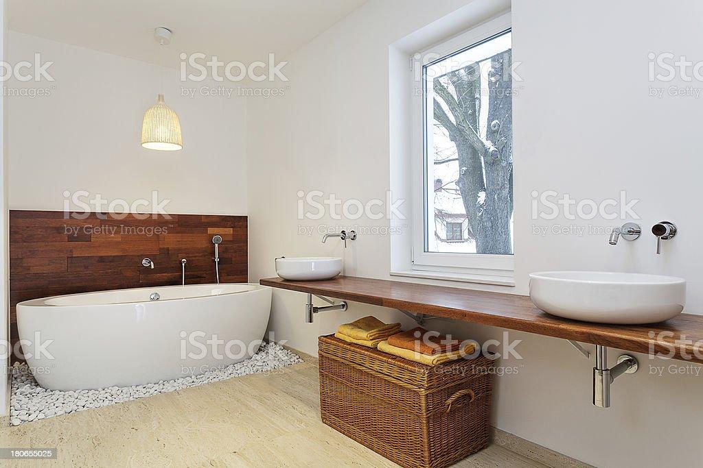 Interior bathroom with window royalty-free stock photo