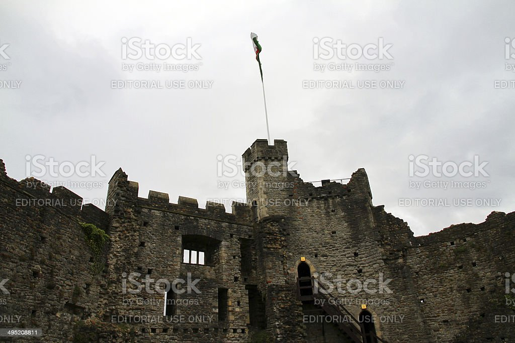Interior Battlements stock photo