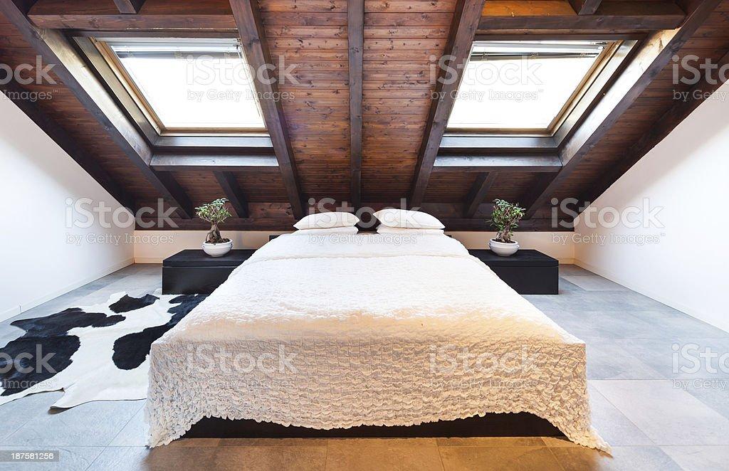Interior, beautiful loft stock photo