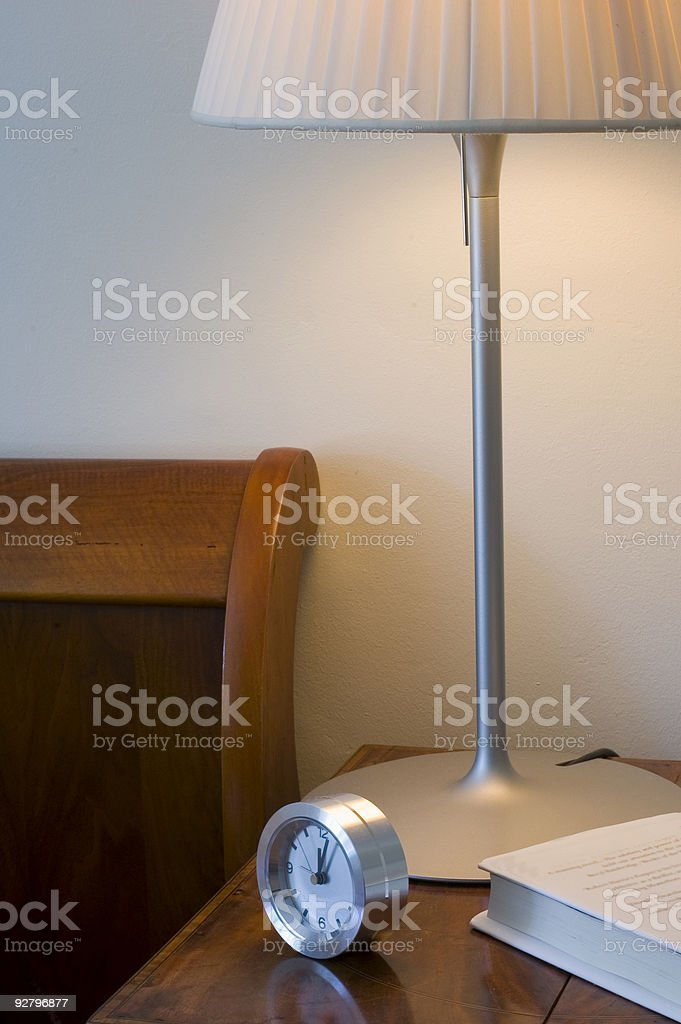 Interior - Bedside Table royalty-free stock photo