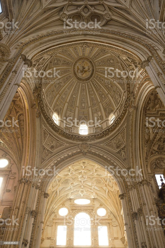 Interior Cathedral-mosque of Cordoba stock photo